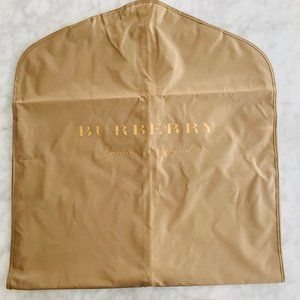 Burberry Garment Bag Travel Fold Over NEW Tan Gold